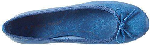 Marco Tozzi Premio Damen 22117 Geschlossene Ballerinas Blau (Azur 883)