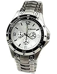 JK Round Black Leather Analog Watch For Men & Boys (SILVER114,Multicolor)