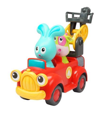 Ouaps - 61128 - Jouet De Premier Age - Jojo Et Son Camion De Pompier