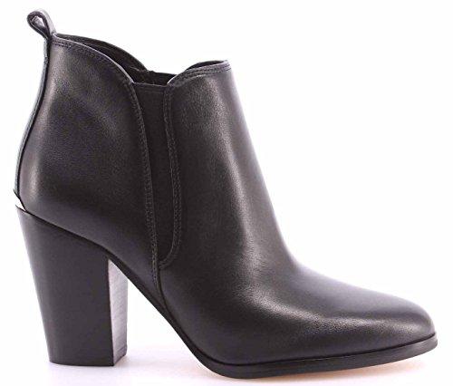 Scarpe Stivaletti Tacco Donna MICHAEL KORS Brandy Bootie Leather 40T6BDHE5L Nero