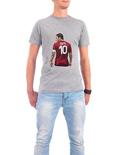 """Design T-Shirt Männer Continental Cotton """"Il Capitano"""" - stylisches Shirt Sport Sport / Fußball Menschen von Muhammad Siddik Grau"""