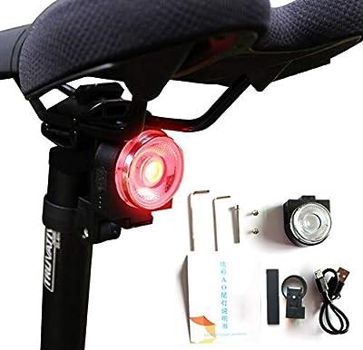 VICKSONGS LED Fahrradlicht Set, StVZO Zugelassen USB Wiederaufladbare Fahrradbeleuchtung Fahrradlichter Set, Fahrradlicht USB Aufladbar/Li-ion Batterie Laufzeit 5 Stunden, IP64 Wasserdicht Staubdicht