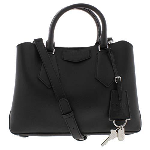 DKNY petit sac de sacoche en cuir noir Sullivan Black Leather