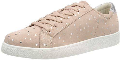 Dot Fashion Sneaker (Tamaris Damen 1-1-23631-22 Sneaker, Pink (Rose Sued.Dots 529), 41 EU)