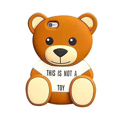 iPhone 6 6S plus Argument, Anya 3D netter Bogen-Superheld-Serie Art-Karikatur-Leder Hülle Shell-Hülle für Apple Iphone 6 6S 5,5-Zoll STORM MART Cute Bear Series -