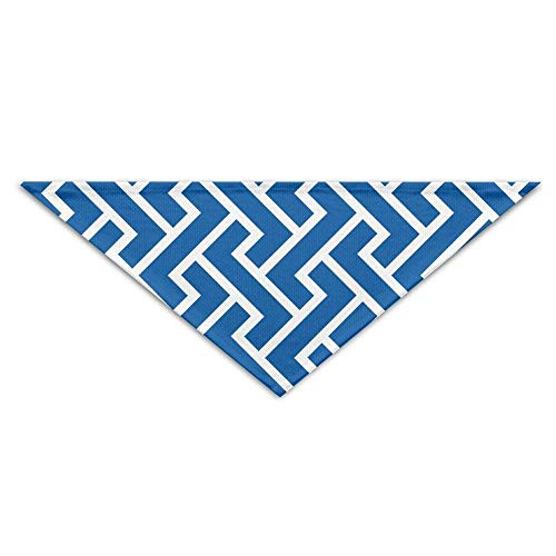 (Qefgjbw Chevron Blue Triangle Neckerchief Bibs Scarfs Accessories for Pet Cats and Baby Puppies The Saliva Dog Towel)