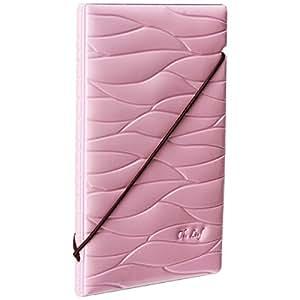 Woodmin Premium Shiny Portafoglio Porta Passaporto Della Carta di Identificazione del Cuoio Sintetico per la Corsa (rosa)