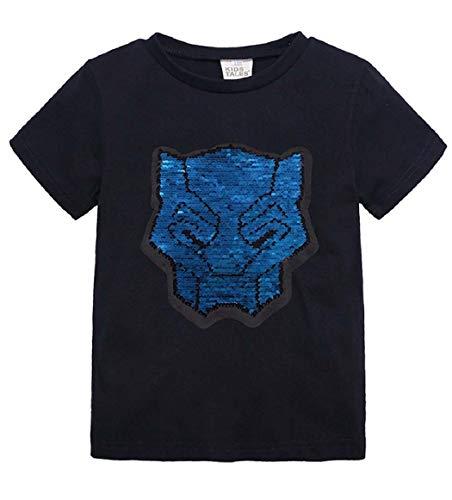 Askong Jungen Mädchen Kurzarm Magic Pailletten Transformers Autobots T-Shirt Tops Sweatshirt Kleidung für 1-8 Jahre Gr. 7-8 Jahre, - Baby Kostüm Optimus Prime