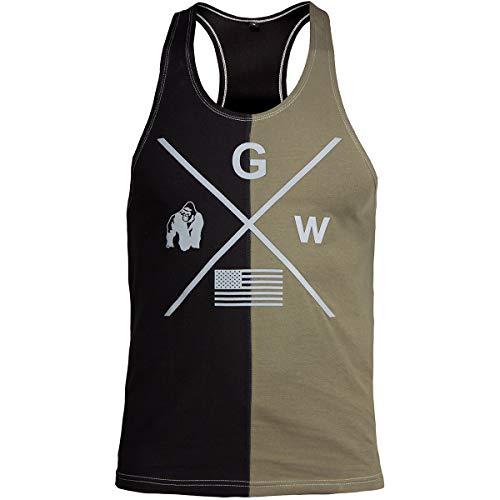 Gorilla Wear Sterling Stringer Tank Top - Bodybuilding Fitness Shirt Grün M