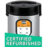 (CERTIFIED REFURBISHED) KENT Personal Rice Cooker 0.9-Litres 180-Watt (Black and Silver)