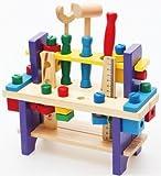 Cassetta Degli Attrezzi Strumenti di legno giocattolo set Workbench Costruzione Carpenterie kit di lavorazione del legno Istruzione intellettuale per i bambini