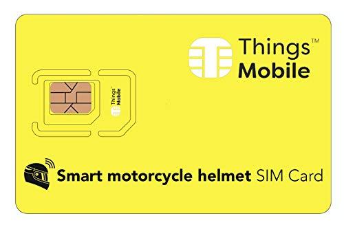 SIM Card IOT/M2M per CASCO DA MOTO INTELLIGENTE/SMART MOTORCYCLE HELMET - Things Mobile - copertura globale, rete multi-operatore GSM/2G/3G/4G, senza costi fissi. 10€ di credito incluso
