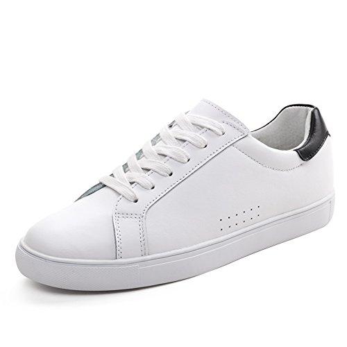 Cuir blanc chaussures femme/Version coréenne de la chaussure à fond plat/Blanc chaussures femme/chaussures de loisirs de sport/Chaussures femme A