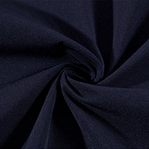 WALK-LEADER Herren Mantel, Einfarbig Blau