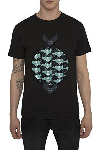 Maglietta Designer Moda da Uomo, T Shirt Vintage Rock, Maglia Nera Grigia con Stampa DEMON Magliette Cool Urban Fashion Gothic Metal Style, Maglie di Cotone, Girocollo, Manica Corta, S M L XL XXL