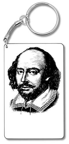 William Shakespeare Legendary Writer Black Artwork Schlüsselbund Schlüsselbund