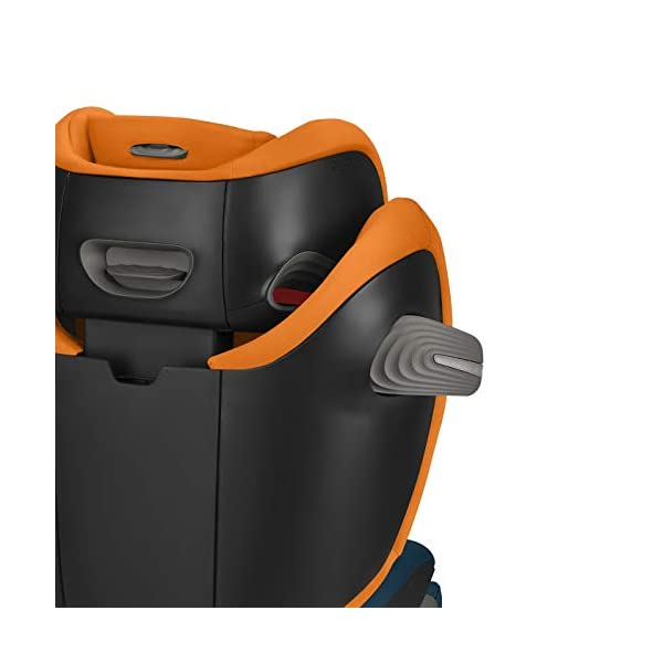 CYBEX Gold Solution S-Fix Child's Car Seat, For Cars with and without ISOFIX, Group 2/3 (15-36 kg), From approx. 3 to approx. 12 years, Urban Black  Sturdy and high-quality child car seat with long service life - For children aged approx. 3 to approx. 12 years (15-36 kg), Suitable for cars with and without ISOFIX Maximum safety - Built-in side impact protection (L.S.P. System), 3-way adjustable headrest, Energy-absorbing shell 12-way adjustable, comfortable headrest, Adjustable backrest, Extra wide and deep seat cushion, Ventilation system 4