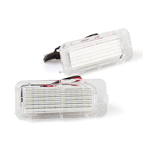 LED Numero di Targa Luce lampade Posteriore per F-ord Focus 5D 2009, Mondeo 2008, Fiesta 2009, 6000K Bianco (2 pezzi)