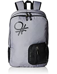 United Colors of Benetton 21 Ltrs Grey Casual Backpack (16A6BAGT7007I)
