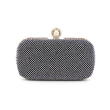 Frauen elegante Hochwertige Imitation Pearl Diamonds Abend Tasche Black