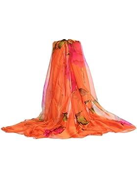 LAIDAGE Mujer Grandes Bufanda únicos Sedoso Chales Elegantes Multicolor Lindo De Protección Solar