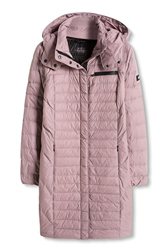 edc by ESPRIT Damen Mantel Superleichter Daunenmantel Rosa (DARK OLD PINK 675)