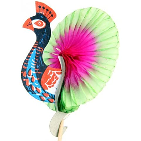 Lookout 50pcs Colorful peacock-pattern Cocktail Drink Sticks per torta alla (Torta Set Decoration)