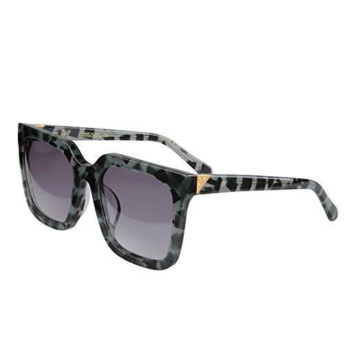 Yiph-Sunglass Sonnenbrillen Mode Herren-Sonnenbrille Persönlichkeit übergroße polarisierte Acetat Fiber Camouflage Rahmen TAC Objektiv UV-Schutz Fahren Urlaub Strand Sonnenbrillen (Farbe : Grün)