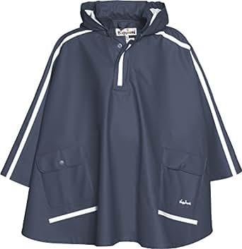 Playshoes Regen-Cape langer Rcken 408568 Unisex - Kinder Regenmntel, Gr. 116 Blau (marine 11)