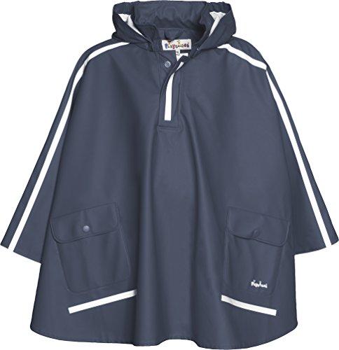 Playshoes Regen-Cape langer Rcken 408568 Unisex - Kinder Regenmntel, Gr. 140 Blau (marine 11) (Blaue Satchel)