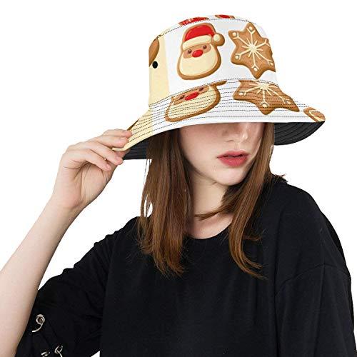 Lebkuchen-Plätzchen-süßer Keks-neuer Sommer-Unisexbaumwollmode-Fischen-Sun-Eimer-Hüte für Kind, Teenager, Frauen und Männer mit besonders angefertigtem Top Packable Fisherman Cap für Reise im Freien