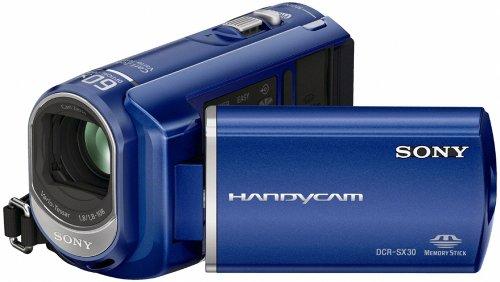 sony-dcrsx30el-handycam-camcorder-with-4gb-internal-memory-2h-55mins-blue