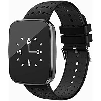 Reloj de pulsera Fitness Tracker con frecuencia cardíaca de Tkstar; sumergible, pantalla táctil IOS