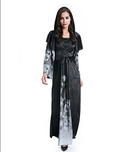 Anguang Damen Halloween Umhang Karneval Fasching Kostüm Cape Vampir Cosplay mit Kapuze Kleid Stil 2 (Halloween Lady Kostüme Ideen)