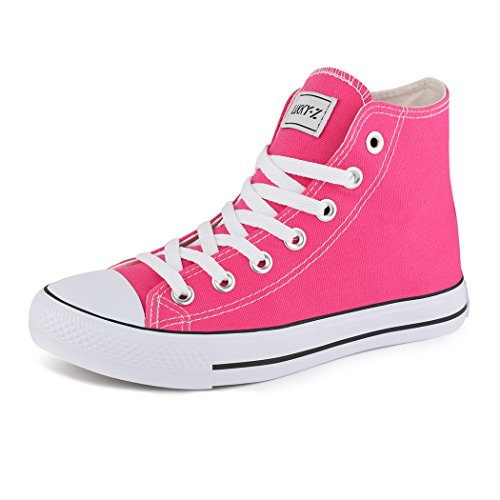Sapatos De Baixos Senhoras Sneaker top Alta chinelo botas Lace Desportivo Rosa Best wp7q88