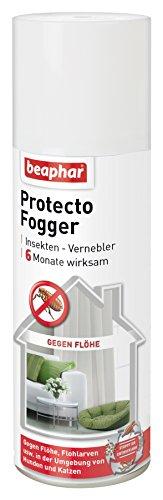 flohfogger Protecto Fogger | Ungeziefer Vernebler | Mittel gegen Flöhe, Zecken, Läuse etc. | Selbstständig entleerend | Für ca. 70m² | 6 Monate wirksam | 200ml