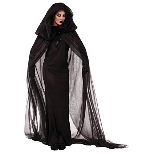 W&TT Halloween Night Wandernde Seele Weibliche Geister Hexe Lange Ärmel Große Gewänder Kostüme Mit Kopfbedeckung + ()