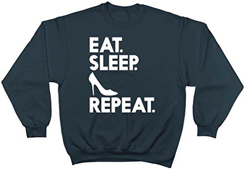 Shopagift - Sweat-shirt - Femme noir noir S Bleu Marine