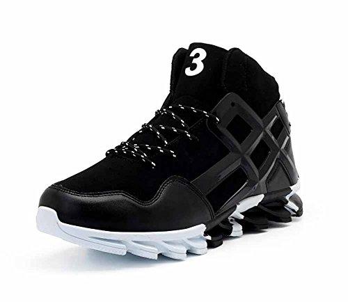 Hommes en plein air Tourisme Chaussures de course en cuir haut haut Basketball baskets formateurs Gym Fitness chaussures