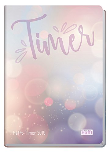 Häfft Timer A52019[Bubbles] Sewn, Hard Cover, Round Corners, January–December 2019