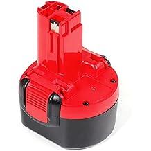 LENOGE Batería para Bosch 9.6V 3000mAh BAT048 BAT100 BAT119 PSR 960 PSR 9.6 VE-2 PLI 9.6V PAG 9.6V GSR 9.6-2 GSR 9.6 V GSR 9.6 2607335260 2 607 001 380 2 607 335 260 Destornillador electrico