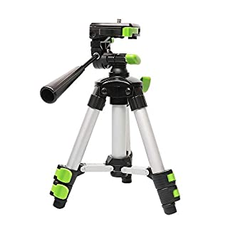 Huepar Self-Leveling Cross Line Laser, Adjustable Tripod Portable Lightweight Laser Level TPD05 Highest 50cm with 3-Way Swivel Pan Head, Quick Release Plate with 1/4
