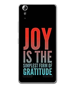 PrintVisa Designer Back Case Cover for Lenovo A6000 Plus :: Lenovo A6000+ :: Lenovo A6000 (Quotes Words Wordings Gratitude )