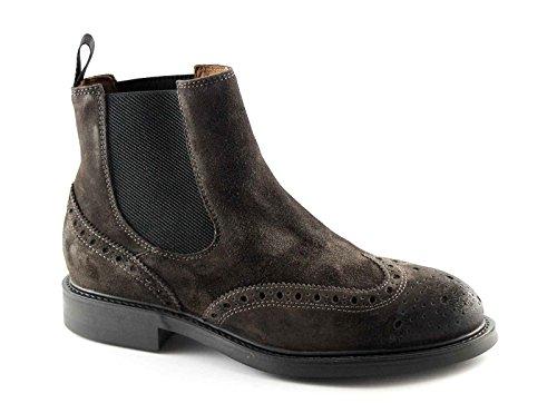 FRAU 73B6 CAFFE scarpe uomo sivaletti beatles inglese camoscio 44
