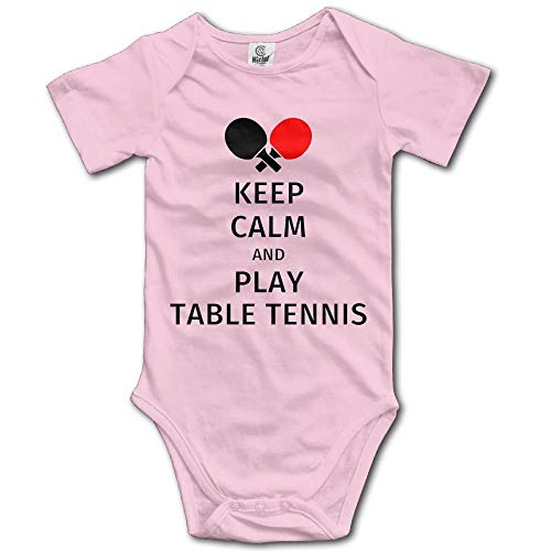 (GJDcase Unisex Baby's Play Table Tennis Bodysuits Romper Light Onesies)