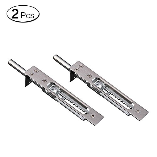Zhi Jin 2 Edelstahl Tür Flush Bolt Verriegelung Sicherheit Slide Gate Lock Security Guard 8-Inch -