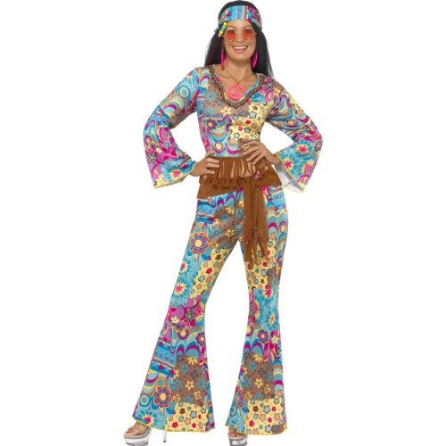 en Kostüm Groovy Hippie Flower Power 60er Größe S ()