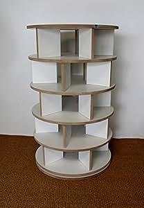 schuhregal schuhkarusell drehbar mdf wei beschichtet k che haushalt. Black Bedroom Furniture Sets. Home Design Ideas