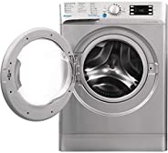 Indesit 9Kg, 1400RPM Front Load Washing Machine, Made in Poland, Silver - 10431