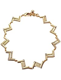 TBOP NECKLACE THE BEST OF PLANET Simple And Stylish Jewelry Diamond Z-type Female Clavicle Chain Necklace In Gold...